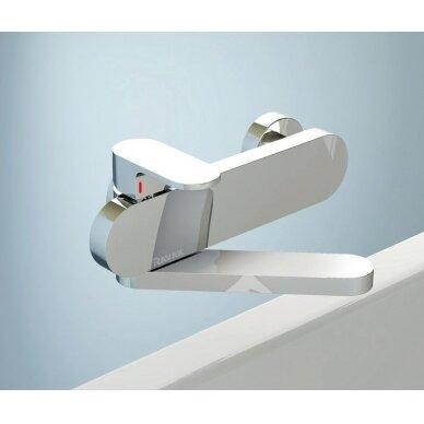 Ravak sieninis vonios/dušo maišytuvas Chrome 150 mm (kairinis) 3