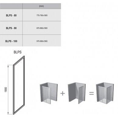 Stacionari sienelė Ravak Blix BLPS 80, 90, 100 cm 6
