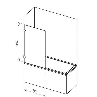 Stacionari vonios sienelė Ravak BVS1 80 cm 4