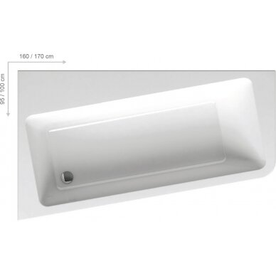 Akrilinė vonia Ravak 10° - 160, 170 cm 4