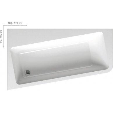 Akrilinė vonia Ravak 10° 160, 170 cm 3