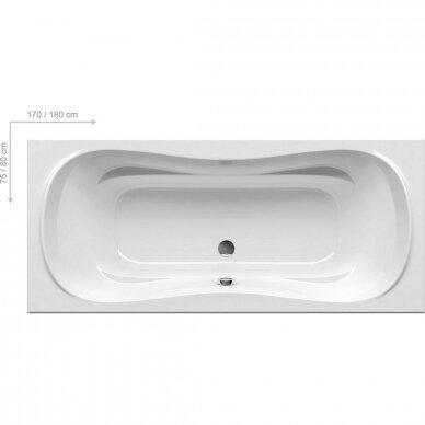 Ravak vonios komplektas: vonia Campanula II 170 cm 2
