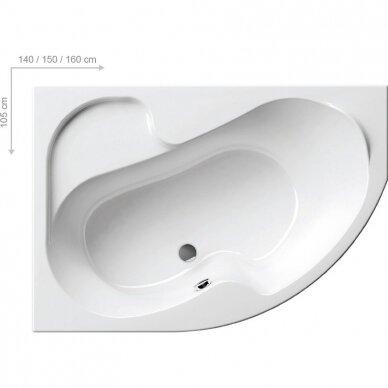 Vonios komplektas Ravak : vonia Rosa I 140 cm L/R 3