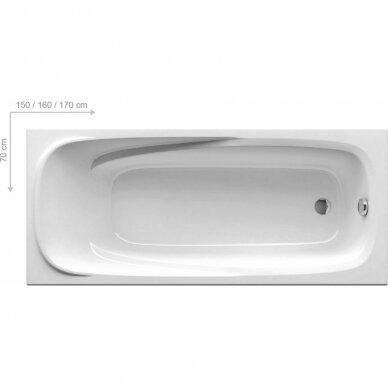 Ravak vonios komplektas: vonia Vanda II 150 cm 4