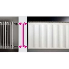 Renovacinis Plieninis radiatorius HM HEIZKORPER, tipas 21