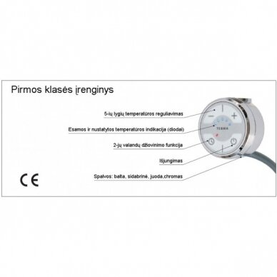 Reguliuojamas elektrinis tenas su valdikliu Terma MOA 2