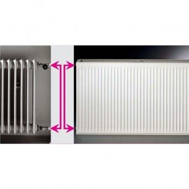 Renovacinis Plieninis radiatorius HM Heizkorper, tipas 20