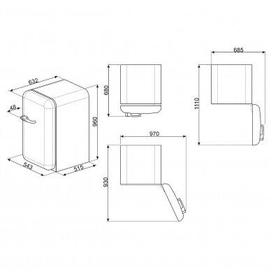Šaldytuvas - minibaras SMEG FAB10HRWH5 3