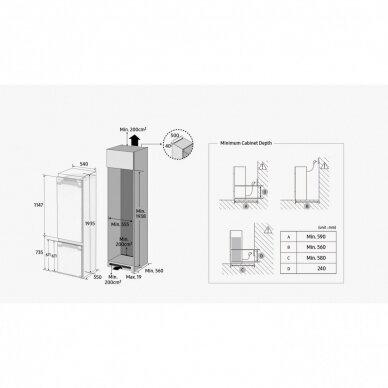 Šaldytuvas Samsung BRB30715EWW/EF 7