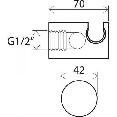 Sieninis dušo išvadas su dušo laikikliu Ravak 3