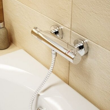 Sieninis termostatinis dušo maišytuvas Ravak 150 mm 2
