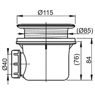Sifonas dušo kabinos padėklui Ravak Basic 90 2