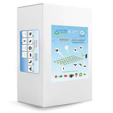 Šiltnamio laistymo sistema Trys lysvės vandentiekiui