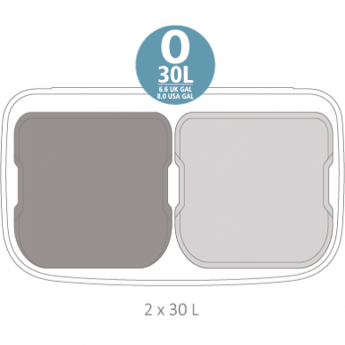 Šiukšlių dėžė Brabantia Bo Touch Bin 2x30L 4