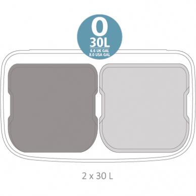 Šiukšlių dėžė Brabantia Bo Touch Bin Hi 2x30L 5