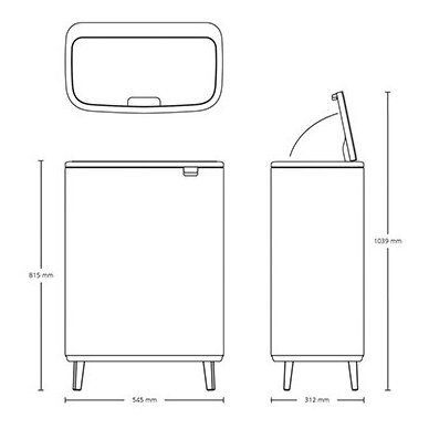 Šiukšlių dėžė Brabantia Bo Touch Bin Hi 2x30L 7