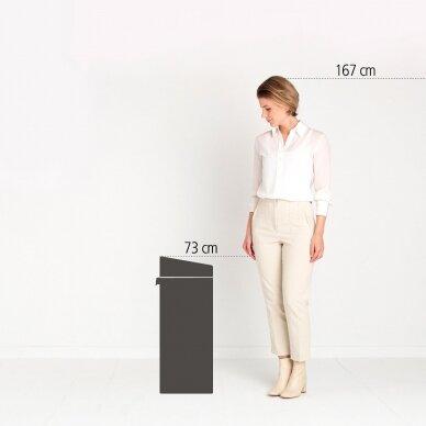 Šiukšlių dėžė su dviem skyriais Brabantia Touch Bin 10 + 23L 5