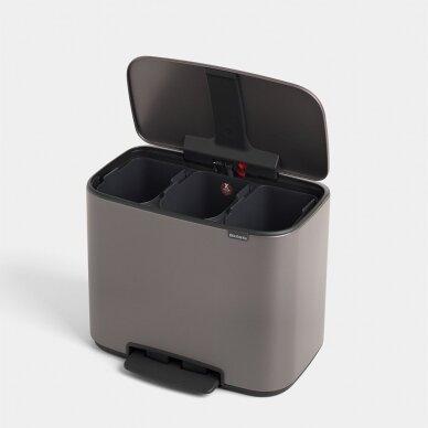 Šiukšlių dėžė su pedalu Brabantia Bo 3x11L 2