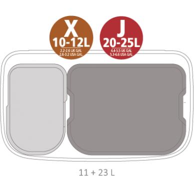 Šiukšlių dėžė Brabantia Bo Touch Bin 11 + 23 L 7