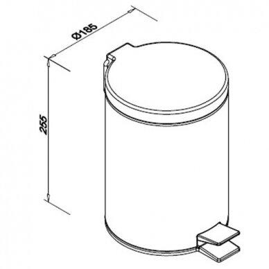 Šiukšlių dėžė su pedalu Faneco, 5 l 2