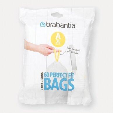 Šiukšlių  maišai Brabantia A 3L (dalytuve 60vnt.)