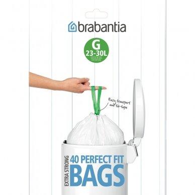 Šiukšlių  maišai Brabantia G 23-30L (dalytuve 40vnt.)