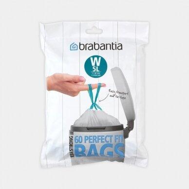 Šiukšlių  maišai Brabantia W 5L (dalytuve 60vnt.)