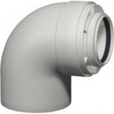 Skoberne dviguba kamino alkūnė 90° kondensaciniam katilui d60/100