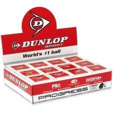 Skvošo kamuoliukas DUNLOP PROGRESS 1 red dot