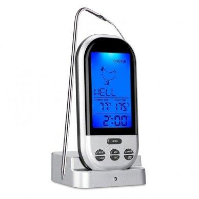 Skaitmeninis kepimo termometras Zyle skirtas mėsai, žuviai 2