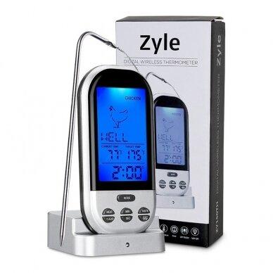 Skaitmeninis kepimo termometras Zyle skirtas mėsai, žuviai