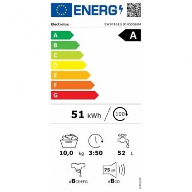 Skalbyklė Electrolux EW9F161B 2