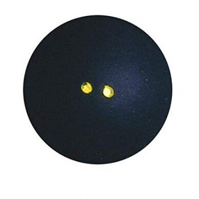 Skvošo kamuoliukai DUNLOP PRO 2 yellow dots 2