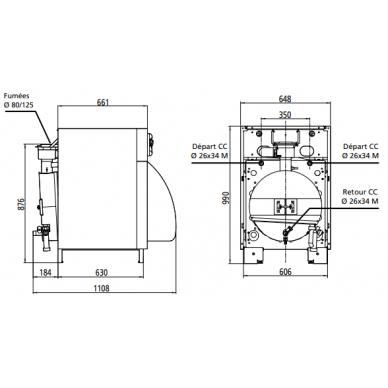 Skysto kuro kondensacinis katilas Atlantic KIMEO NOx 25 (22kW) 3
