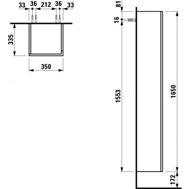 Spintelė aukšta Laufen Kartell by Laufen 165 cm 3