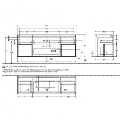 Spintelė praustuvui Villeroy & Boch Finion 160 cm 9