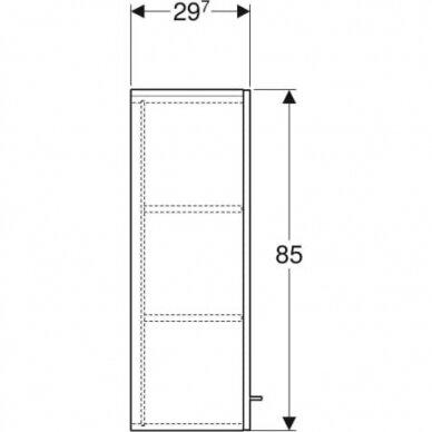 Spintelė šoninė viršutinė Geberit Selnova SQ 85 cm 3