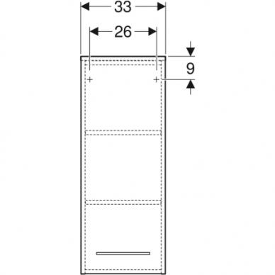 Spintelė šoninė viršutinė Geberit Selnova SQ 85 cm 2
