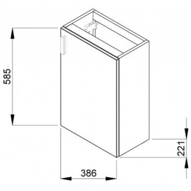 Vonios spintelė su praustuvu Jika Petit 40 cm 2