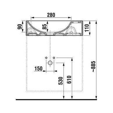 Vonios spintelė su praustuvu Jika Petit 40 cm 3