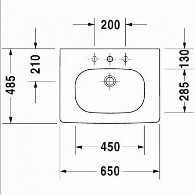 Spintelė su praustuvui Duravit DuraStyle 60 cm 4