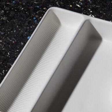 Stačiakampio formos keraminis padėklas Laufen Val 36 cm 5