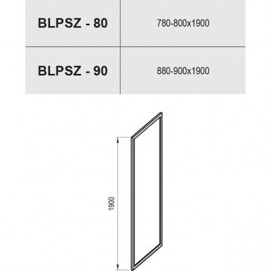 Stacionari dušo sienelė Ravak Blix BLPSZ 80, 90 cm 2