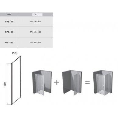 Stacionari sienelė Pivot PPS 80, 90, 100 cm 2