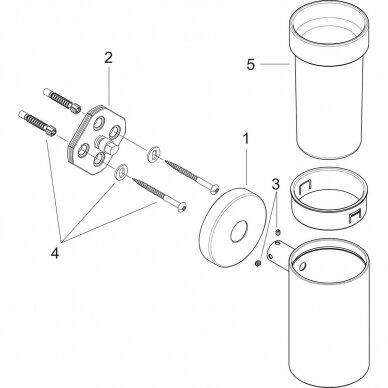 Stiklinė dantų šepetėliams Hansgrohe Logis 4