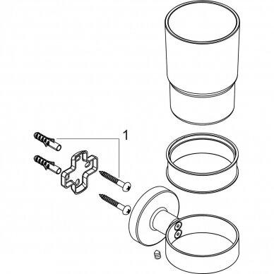 Stiklinė dantų šepetėliams Hansgrohe Logis Universal 3