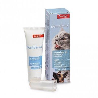 Stomatologinis gelis - dantų pasta Candioli DentalMax®  šunims ir katėm 50 ml