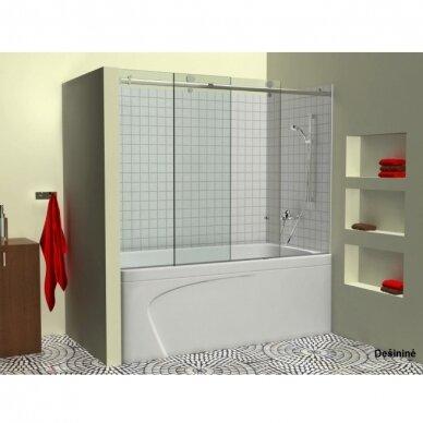 Stumdoma vonios sienelė Griubner RS-V1 150, 160, 170, 180 cm 3