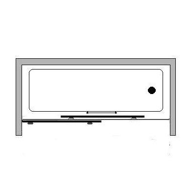 Stumdoma vonios sienelė Griubner RS-V1 150, 160, 170, 180 cm 4