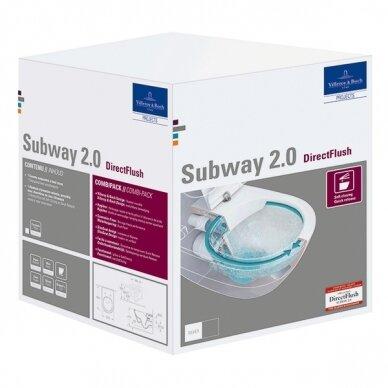 Unitazas su plonu soft close Subway 2.0 Direct Flush 5